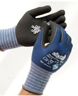 Sanitized nitrile gloves